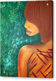 Scars Of My Past Acrylic Print by Kayon Cox