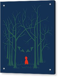 Scary Home Acrylic Print by Illustrations