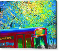 Scene From The Bus Station Acrylic Print by Lenore Senior