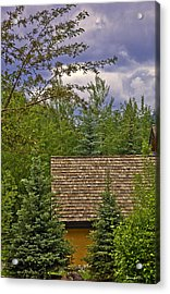 Scene Through The Trees - Vail Acrylic Print by Madeline Ellis