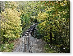 Scenic Railway Tracks Acrylic Print by Susan Leggett