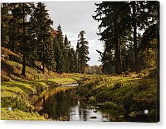 Scenic River, Northumberland, England Acrylic Print by John Short