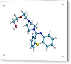 Schizophrenia Drug Molecule Acrylic Print