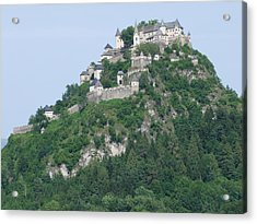 Acrylic Print featuring the photograph Schloss Hochosterwitz Austria  by Joseph Hendrix
