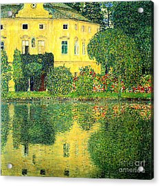 Schloss Kammer On The Attersee Acrylic Print by Pg Reproductions