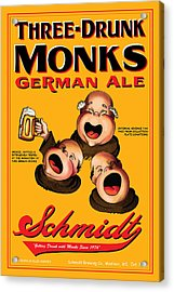Schmidt Three Drunk Monks Acrylic Print