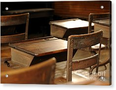 School Is Out Acrylic Print by Nancy Greenland