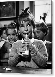 School Milk Acrylic Print by Kurt Hutton