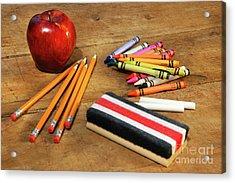 School Supplies  Acrylic Print by Sandra Cunningham