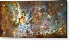 Scientists Add Colors Based On Light Acrylic Print by ESA and nASA