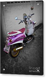 Acrylic Print featuring the photograph Scooter Power by Thanh Tran