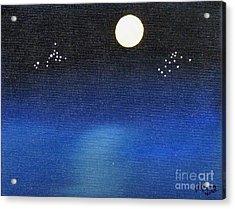 Scorpio And Aquarius Acrylic Print by Alys Caviness-Gober