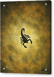 Acrylic Print featuring the painting Scorpion by Edwin Alverio