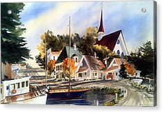 Scotia Princess ---annapolis N.s. Acrylic Print by Don F  Bradford
