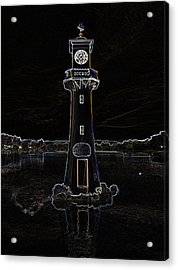 Acrylic Print featuring the photograph Scott Memorial Roath Park Cardiff 2 by Steve Purnell