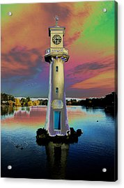 Acrylic Print featuring the photograph Scott Memorial Roath Park Cardiff 4 by Steve Purnell