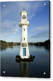 Acrylic Print featuring the photograph Scott Memorial Roath Park Cardiff by Steve Purnell