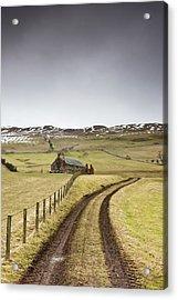 Scottish Borders, Scotland Tire Tracks Acrylic Print by John Short