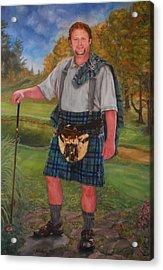 Scottish Golfer Acrylic Print