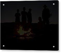 Scout Camp Fire Acrylic Print by LaDonna Vinson