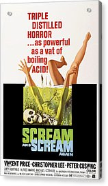 Scream And Scream Again, 1-sheet Poster Acrylic Print by Everett