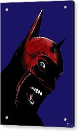 Screaming Superhero Acrylic Print by Giuseppe Cristiano