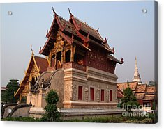 Scripture Repository Wat Phra Singh Chiang Mai Acrylic Print by Opas Chotiphantawanon