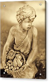 Sculpture In Sepia Acrylic Print by Linda Phelps