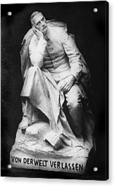 Sculpture Of Kaiser William II, Title Acrylic Print by Everett