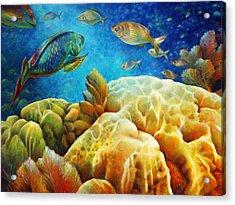 Sea Escape I - Color Queens Acrylic Print by Nancy Tilles