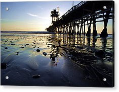 Sea Glass And Flags Acrylic Print by Kevin Moore