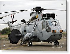 Sea King Helicopter Of The Royal Navy Acrylic Print by Luc De Jaeger