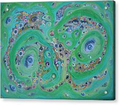 Acrylic Print featuring the mixed media Sea Of Eyes by Douglas Fromm