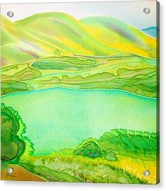 Sea Of Grass Waves Of Mustard Acrylic Print by Jill Targer