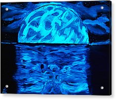 Sea Of Troubles Black Light Acrylic Print