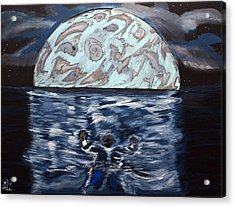 Sea Of Troubles Acrylic Print by Lisa Brandel