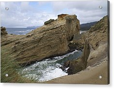 Acrylic Print featuring the photograph Sea Side by Jerry Cahill