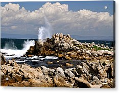 Acrylic Print featuring the photograph Sea Sky And Clouds by Johanne Peale