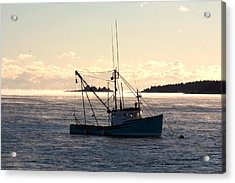 Acrylic Print featuring the photograph Sea-smoke On The Harbor by Brent L Ander