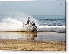Sea Spray Acrylic Print by Kantilal Patel