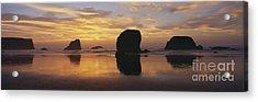 Sea Stacks Acrylic Print by Chromosohm Media Inc and Photo Researchers