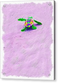 Sea Turtle Escape Acrylic Print