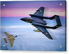 Sea Vixens At Play Acrylic Print by Chris Lord