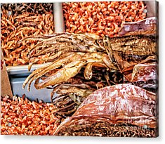 Seafood For Sale 2 In Chinatown Acrylic Print by Anne Ferguson