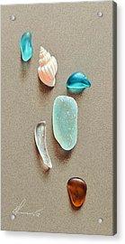 Seaglass Pieces Acrylic Print by Elena Kolotusha