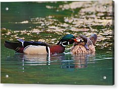 Sealed With A Kiss Acrylic Print by Charles Covington