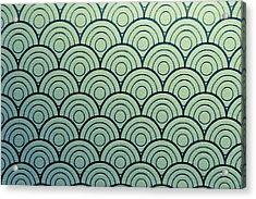 Seamless Wave Pattern Acrylic Print by Hirokazu YAMANOUCHI