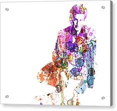 Sean Penn Acrylic Print by Naxart Studio