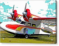 Seaplane Poster II Acrylic Print
