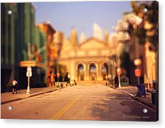 Acrylic Print featuring the photograph Seaport Tiltshift by EricaMaxine  Price